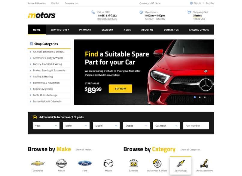 Theme Motors miễn phí - Theme wordpress mua bán xe ô tô đẹp 20