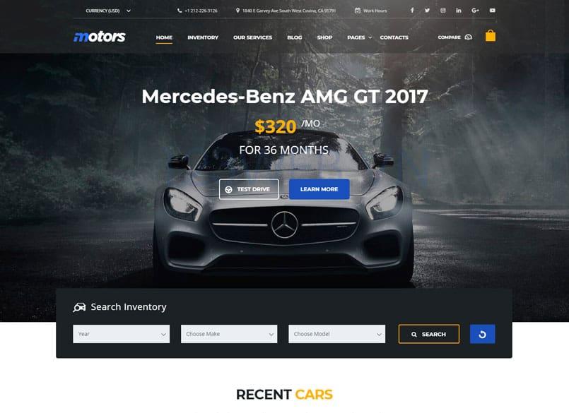 Theme Motors miễn phí - Theme wordpress mua bán xe ô tô đẹp 15