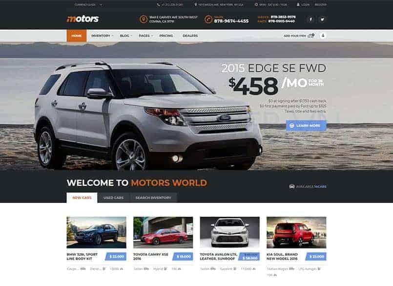 Theme Motors miễn phí - Theme wordpress mua bán xe ô tô đẹp 16