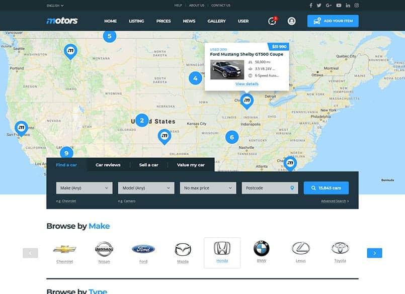 Theme Motors miễn phí - Theme wordpress mua bán xe ô tô đẹp 18