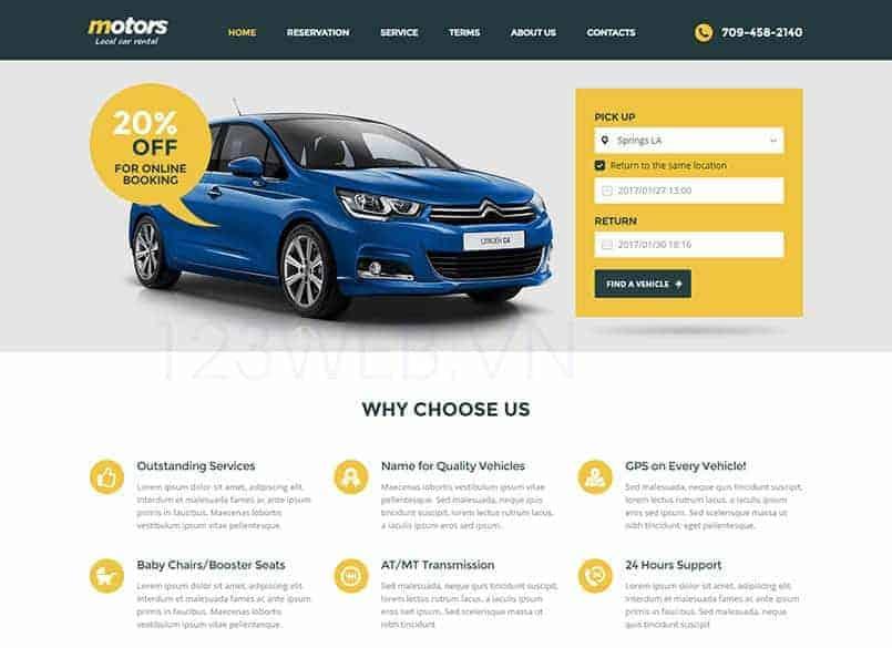 Theme Motors miễn phí - Theme wordpress mua bán xe ô tô đẹp 13