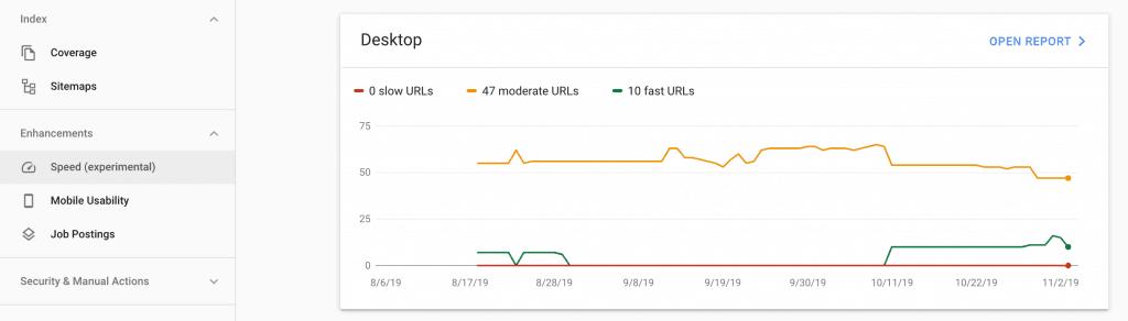 Google chính thức đưa báo cáo tốc độ web vào Search Console 3