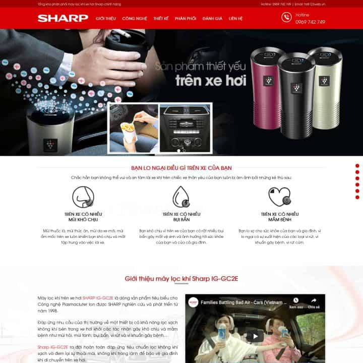 theme-wordpress-ban-may-loc-khong-khi-xe-hoi-sharp