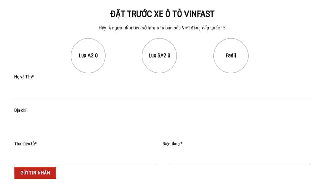 Theme wordpress bán xe ô tô VinFast đẹp - WEB110 4