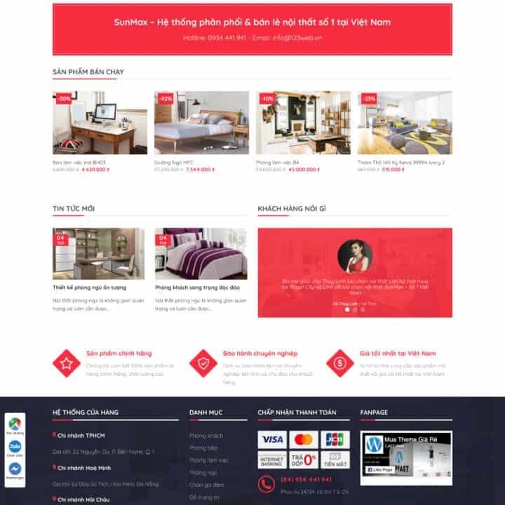 Theme wordpress kinh doanh nội thất online - Mẫu số 19 1