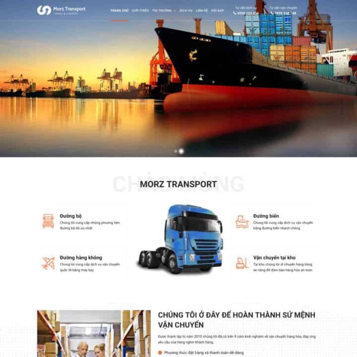 theme-wordpress-gioi-thieu-cong-ty-van-tai-giao-van-logistics