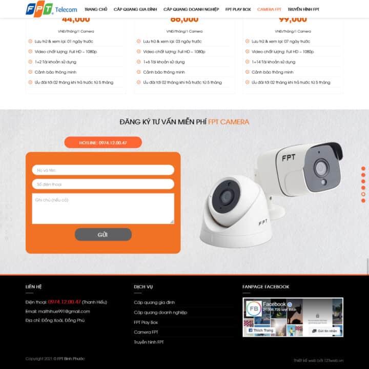 Theme wordpress lắp mạng wifi FPT, internet FPT 1