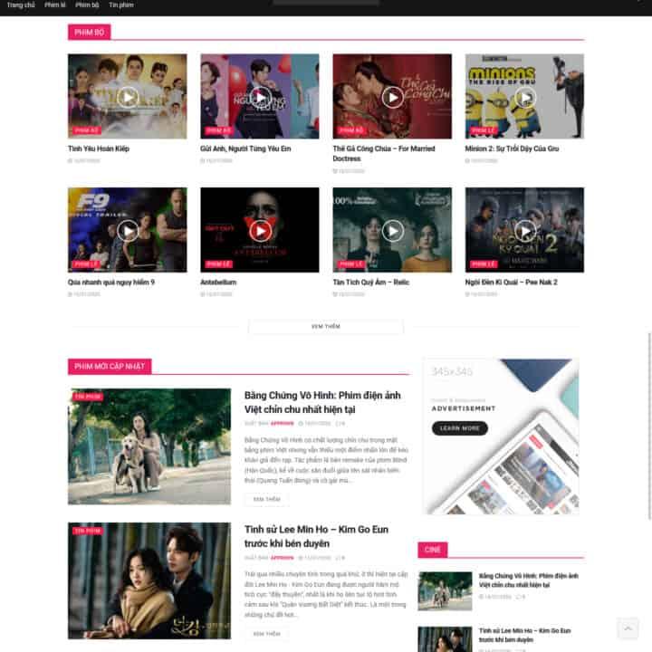 Theme wordpress tin tức giải trí, showbiz 1